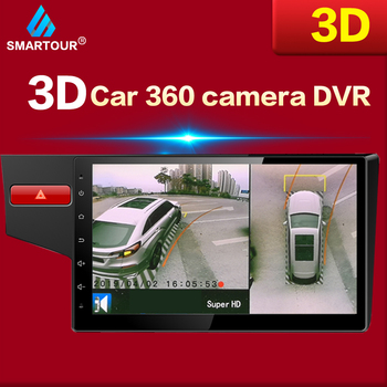Smartour HD Bird View System 3D 360 Surround View System Multi-angle adjustable metal Car camera 1080P DVR 360 camera car bird view system hd 3d 360 degree surround view system 4 car camera multi angle adjustable metal car camera 1080p dvr g sensor