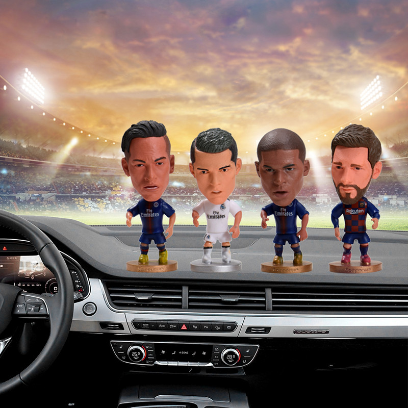 Car ornaments funny football characters star doll Messi Ronaldo Nei Marpe Bam ornaments car decoration