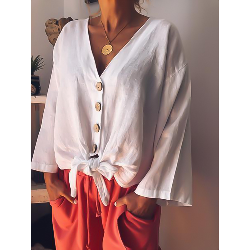 Fashion Maternity Shirt Tops and Blouses Solid Color Long Sleeve Shirt V-neck Boho Women Clothing Maternity Wear Shirts