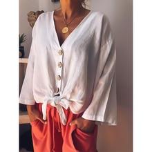 Fashion Maternity Shirt Tops and Blouses Solid Color Long Sleeve Shirt V-neck Boho Women Clothing Maternity Wear Shirts