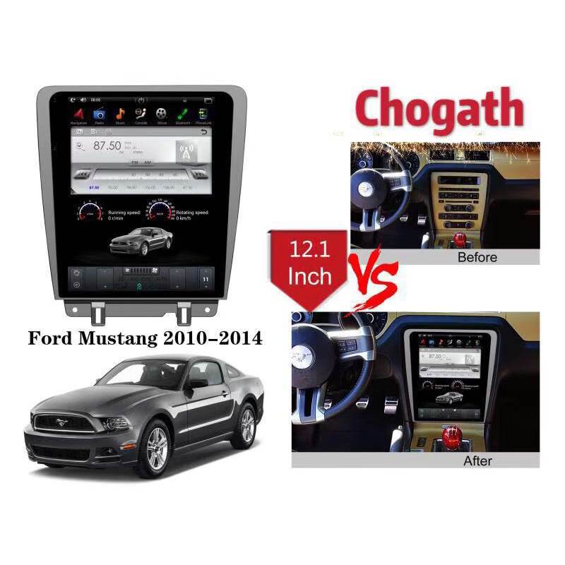 Chogath car multimedia player android 7.0 car gps navigation <font><b>12</b></font>.1inch car radio player for Ford Mustang 2010-2014 image