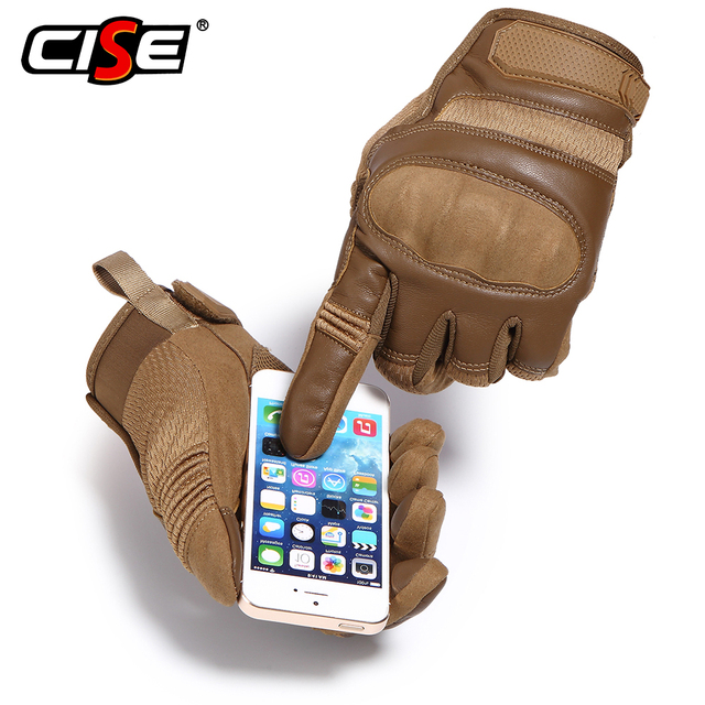 Touchscreen PU Leather Motorcycle Hard Knuckle Full Finger Gloves Protective Gear Racing Biker Riding Motorbike Moto Motocross 2
