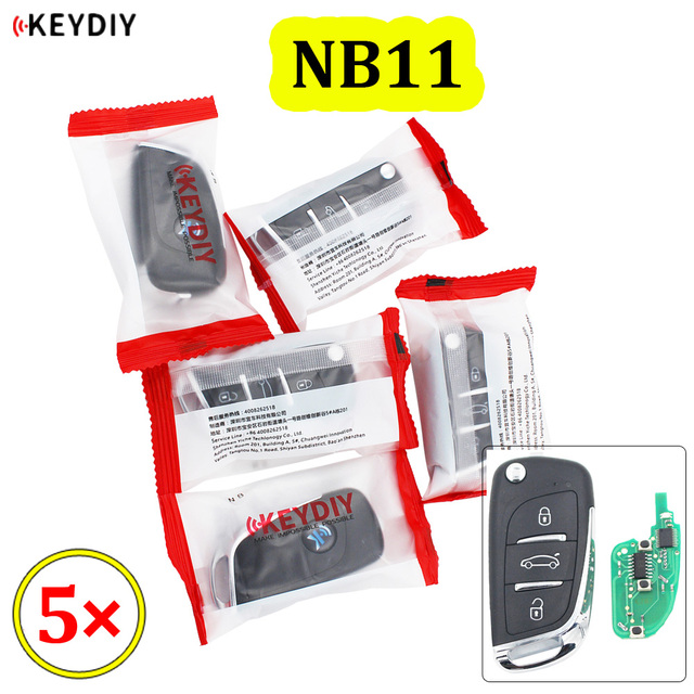 5PCS/LOT KEYDIY 3 Button Multi functional Remote Control NB11 NB Series Universal for KD900 URG200 KD X2 all functions in one
