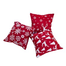 1Set 3 Pcs Christmas Pillowcase Square Pillow Cover Cushion Case Toss Pillowcase Christmas Style Pattern Pillow Case Decor 45X45(China)