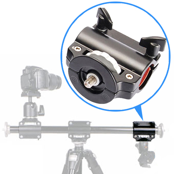 Tripod Boom Cross Arm Crossbar Camera Extension Arm Steeve Four Head Clamp Mounts Holder Bracket with 3/8 v drum rack clamp arm bar joint mounts t clamps 1 5 38mm for roland td