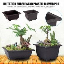 Flower-Pot Sand-Pots Tree Succulent Plant Plastic Home-Garden New Purple Simulational