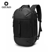 OZUKO Tasche Multi-funktion rucksack Männer Rucksack 15,6 zoll Laptop Tasche Männlichen Wasserdichte Große Kapazität Rucksäcke Reisetaschen Mochila
