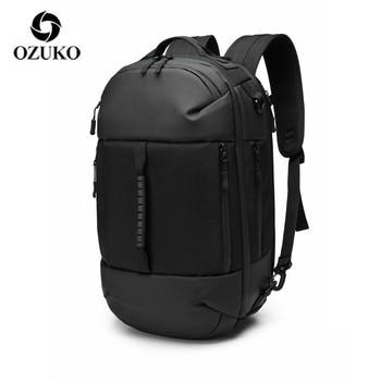 OZUKO Bag Multi-function backpack Men Backpack 15.6 inch Laptop Male Waterproof Large Capacity Backpacks Travel Bags Mochila