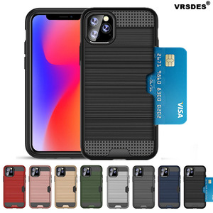 ShockProof Armor Case For iPhone 11Pro MAX 6.5 11 6.1 11Pro 5.8 Card Holder Slot For iPhone XS MAS XR X 6 6S 7 8 Plus 5 5S SE 2(China)