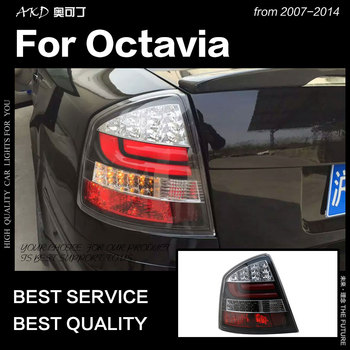 Car Styling for Skoda Octavia Tail Lights 2005-2014 Octavia Tail Lamp LED Tail Light DRL Brake Reverse auto Accessories
