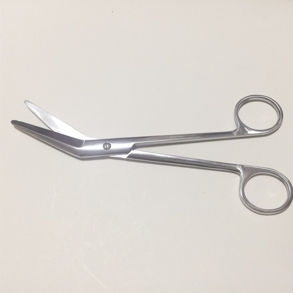 Stainless Steel Surgical Scissors Medical Gynecology Perineal Side Cut Scissors Umbilical Cord Household Curved Scissors 18cm