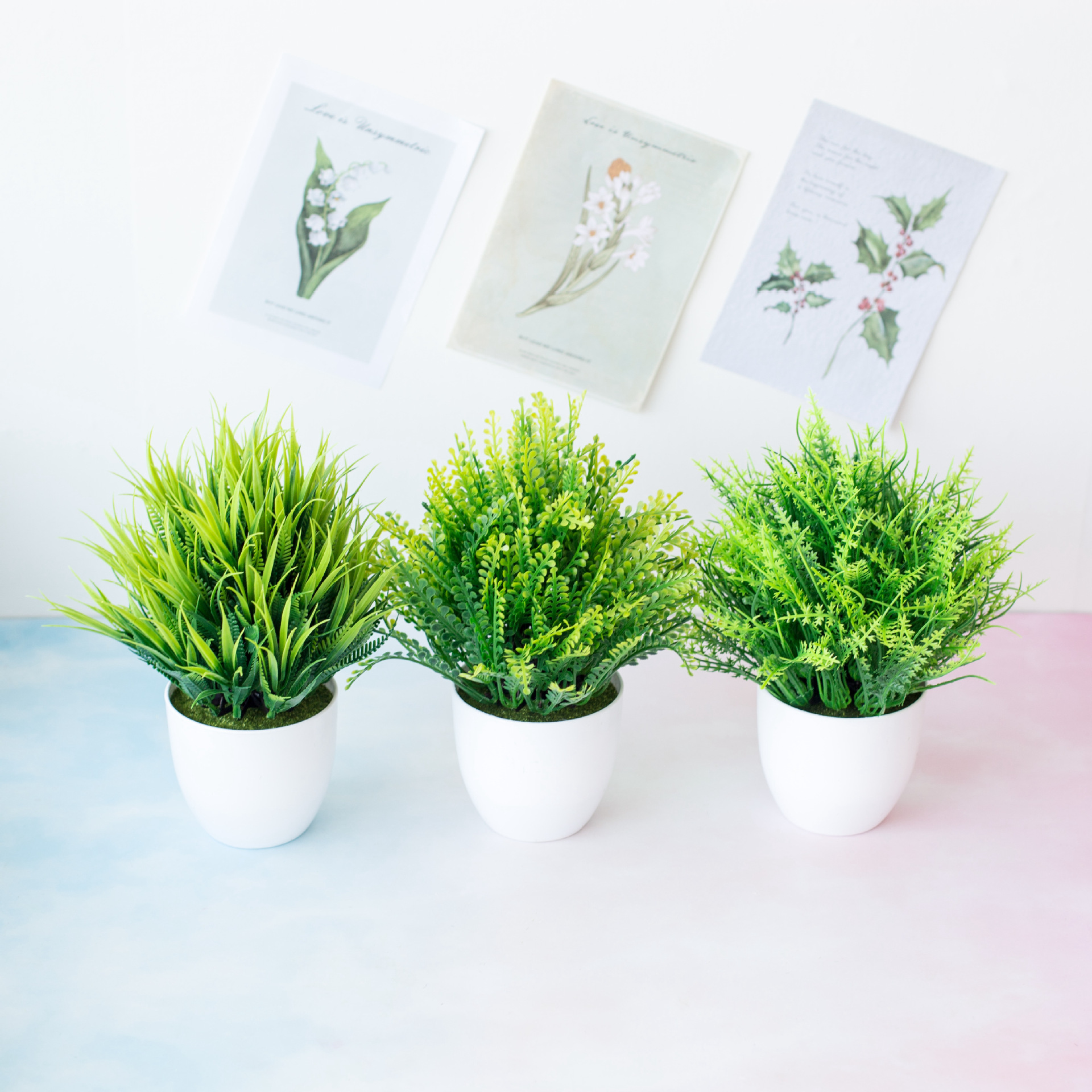 1pc Artificial Plants Green Bonsai Small Tree Pot Plants Fake Flower Potted Ornaments for Home Decoration Craft Plant Decorative 2