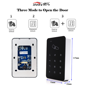 Image 2 - Standalone Access Controller RFID Access Control Keypad Waterproof Rainproof Cover digital panel Card Reader Door Lock System