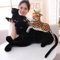 30-120cm gigante preto leopardo pantera brinquedos de pelúcia macio animal de pelúcia travesseiro animal boneca amarelo branco tigre brinquedos para crianças