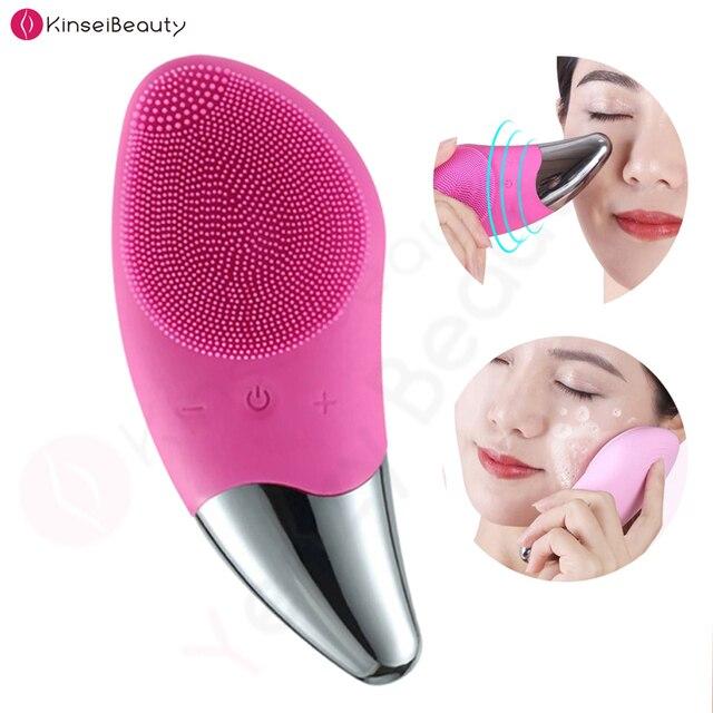 מיני חשמלי פנים ניקוי מברשת סיליקון סוניק פנים מנקה עמוק נקבובית ניקוי עור לעיסוי פנים ניקוי מברשת מכשיר