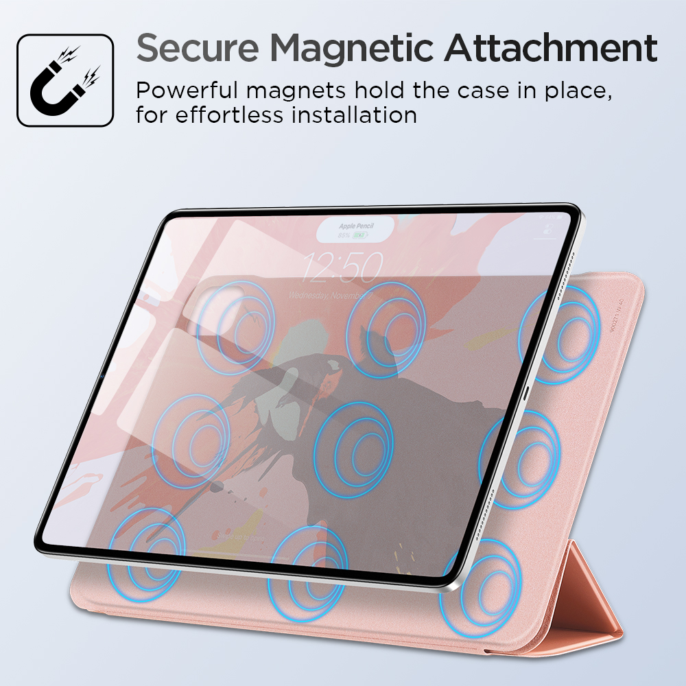 ESR iPad Cover for iPad Air 4 2020 iPad Pro 11'' 12.9'' Inch 2018 Secure Magnetic Auto Case Silky-Smooth Shockproof iPad Cover