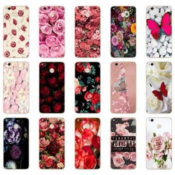 62DD mariposa roja en rosas blancas funda de silicona suave para Xiaomi Redmi 4a 5 plus Note 4 4x 5a pro mi a1 funda
