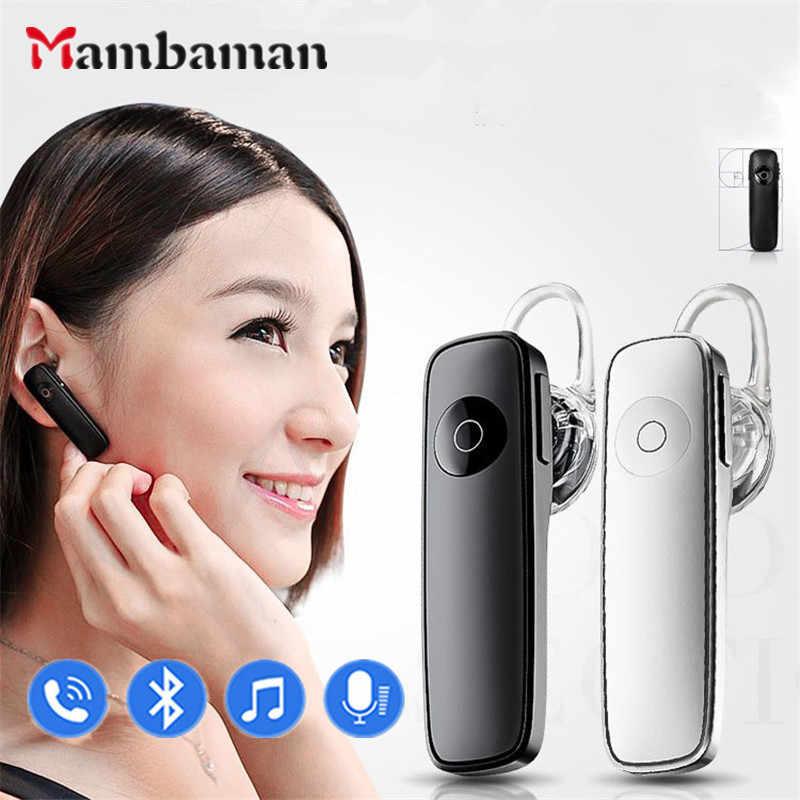 Biznesowe słuchawki z bluetooth bezprzewodowe sportowe słuchawki stereo z mikrofonem słuchawki douszne dla wszystkich słuchawek Smart Phone