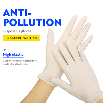 100Pcs Disposable Gloves Latex Nitrile  Adult Anti-Skid Rubber Cleaning Gloves Left And Right Hand Universal S M L