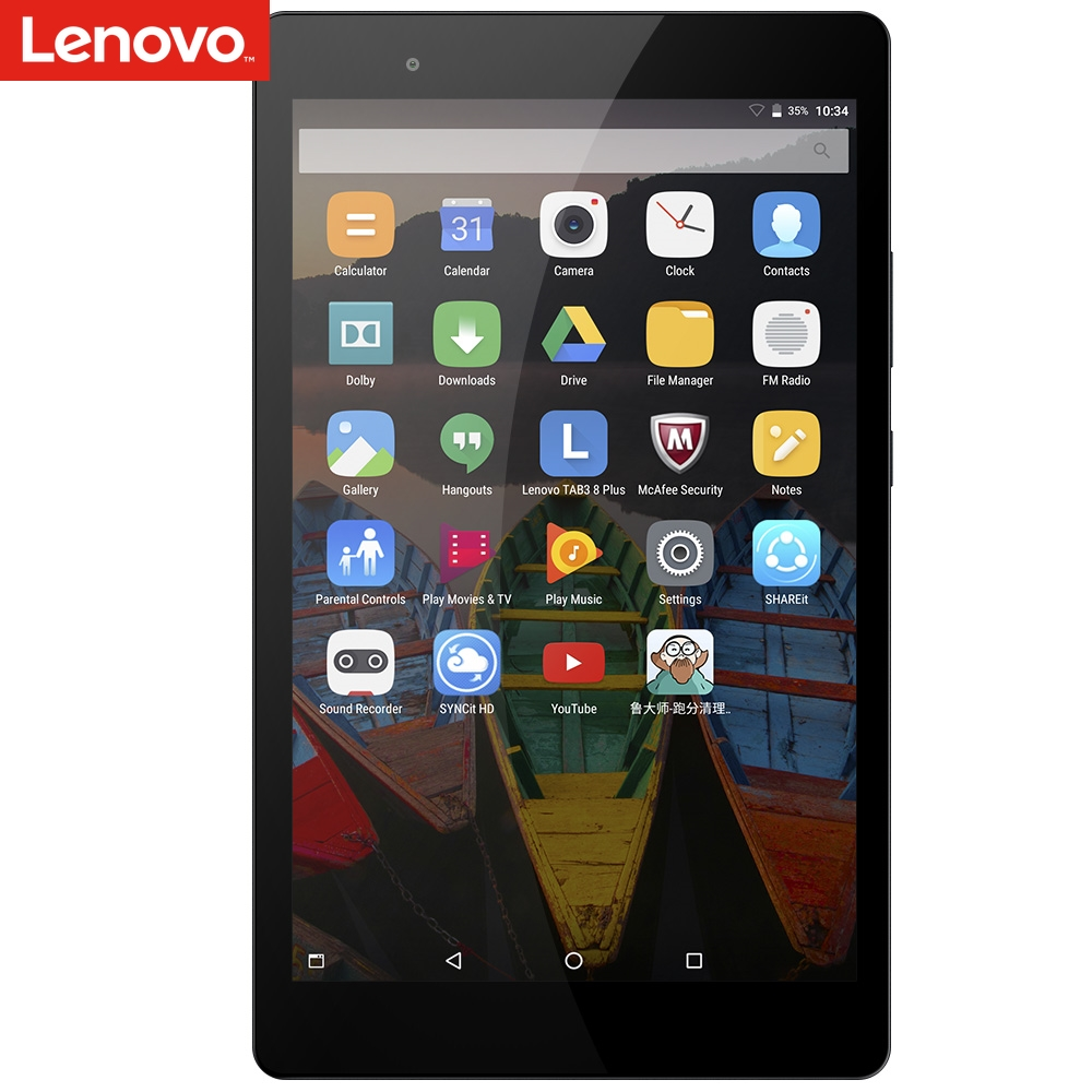 Lenovo P8 8.0 Inch LTE Tablet Phone Snapdragon 625 Octa Core 3GB 16GB 4250mAh Lenovo Tab3 8 Plus TB-8703R Tablet Phone