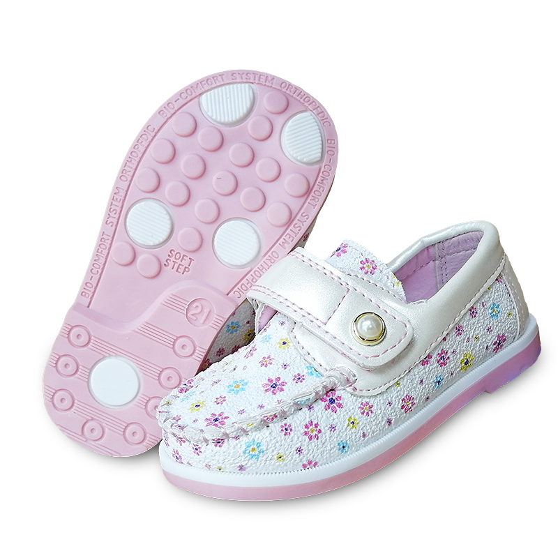 Super Quality 1pair PU Leahter Shoes Fashion Children Kids Shoes, New Girl Single Shoes