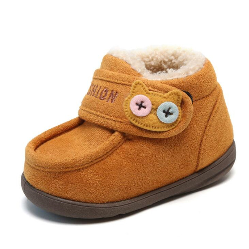 MHYONS Winter Baby Boys Girls Shoes Kids New Fashion Cute Cartoon Snow Boots Warm Cotton Thick Shoes Children Casual Boots Sneak|Boots| |  - title=