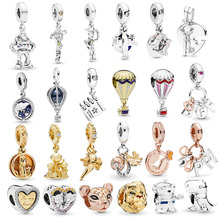 Boosbiy 2pc New Design Cartoon Style Beads Dinosaur Lion Charms fit Pandora Bracelets Necklace for Women DIY Jewelry Accessories