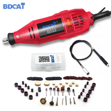 BDCAT Dremel aracı elektrikli Mini matkap döner aracı değişken hız parlatma makinesi ile Dremel aracı aksesuarları gravür kalem