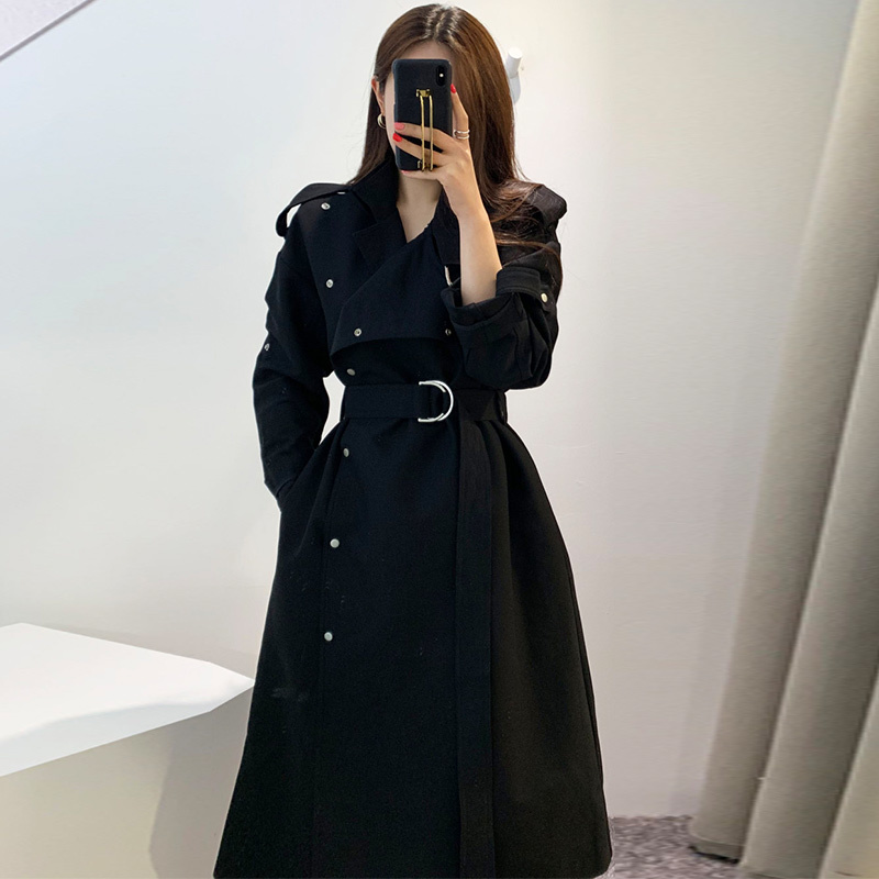 TVVOVVIN Fashion Windbreaker Female New 2019 Autumn Cotton Casual   Trench   Coat Fro Women Korean Style Single-breasted Coats X038