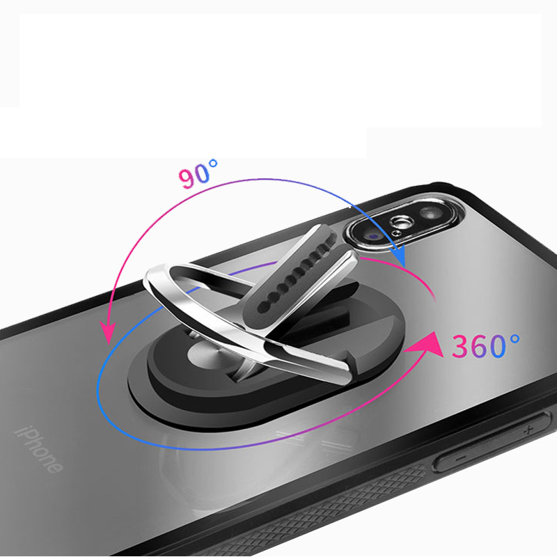 Multipurpose Mobile Phone Holder 360 Degree Car Air Vent Grip Stand Rotation Magnetic Finger Ring Universal Phone Holder Bracket