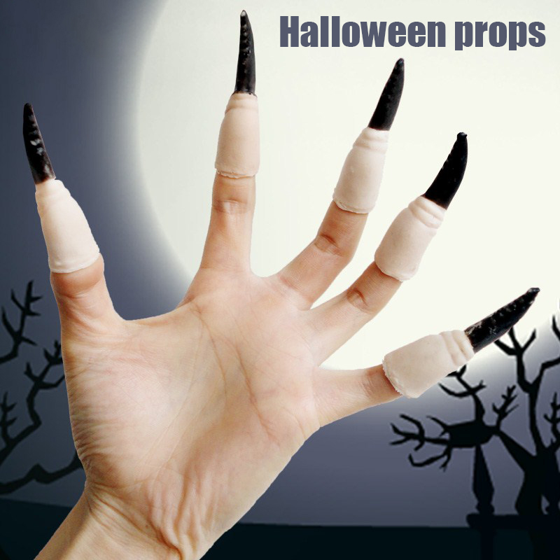 High Quality Long Witch False Nose Witches Nose Accessories Ghost Finger Nail Halloween Scary Cosplay Decor