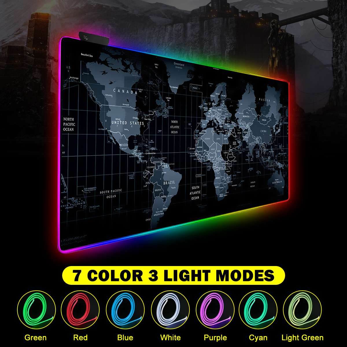 LED Gaming Mouse Pad RGB Gamer Large Mousepad LED Lighting USB Keyboard Colorful Desk Pad Mice Mat For PC Laptop Desktop