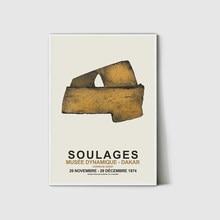 Décor d'exposition, décor de Pierre Soulages, imprimés d'art, imprimés d'exposition, exposition au musée, Art abstrait D