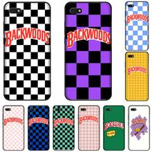 Backwoods Checkered TPU black Phone Case Cover Hull For Huawei Honor 7C 7A 8X 8A 9 10 10i Lite 20 NOVA 3i 3e for huawei honor mate 7c 7a 8 8x 9 9n 10 20 nova 3 3e 3i pro lite black silicon phone case adventure time style