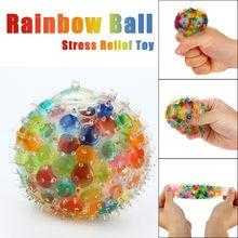 Balle arc-en-ciel colorée Anti-Stress, jouets Anti-Stress pour enfants, enfants, adultes, jouets de décompression amusants