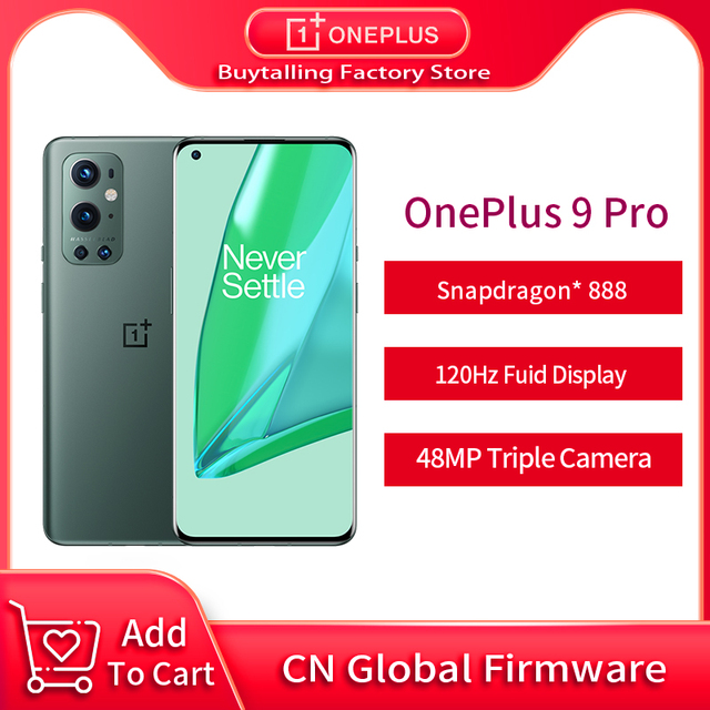"""Global Firmware Oneplus 9 Pro 5G MobilePhone 8/12GB RAM 256GB ROM Snapdragon 888 Octa Core 65W Flash Charge 6.7 """" 120Hz AMOLED 1"""