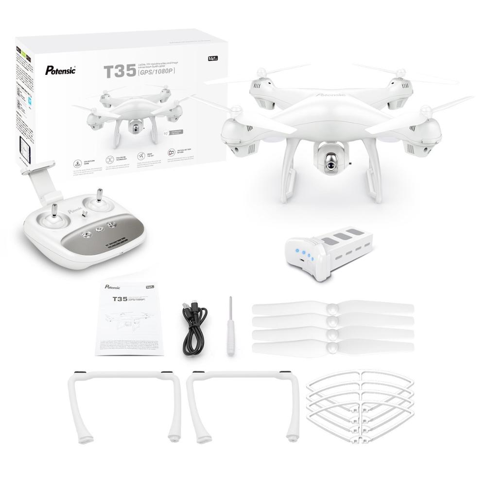 Potensic T35 2.4Ghz RC Drone 1080P Wifi FPV HD Camera Altitude Hold One Key Return/Landing Take Off Headless RC Quadcopter Drone