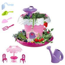 Mini Planting Tools Set Garden House DIY Assembly Toy Kids Girls Early Education Toys
