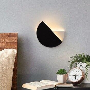 Nordic Wall Lamp LED Wall Lamp 360 Degree Revolving Wall Lamp Creative Bedroom Bedside Lamp Hotel Wall Lamp Vintage Wall Sconces