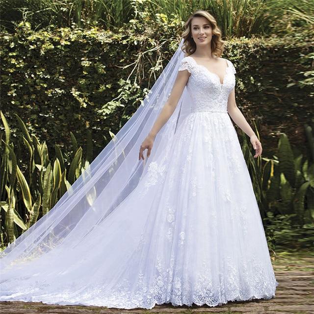 Фото vestido de noiva белые свадебные платья размера плюс свадебное цена