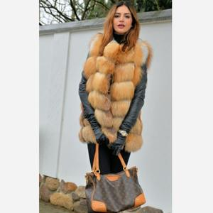 Image 3 - Womens new red fox fur vest natural fox fur real fox fur short vest casual fashion warm autumn and winter European street style