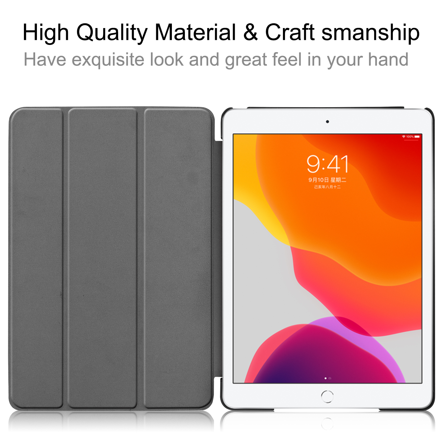 iPad/8th/Cas 8-8th-Generation Magnetic iPad A2428/a2429 Case Apple Smart-Cover Sleep for