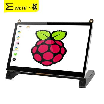 EVICIV 7 Inch Raspberry Pi 4 Portable Monitor Rasberry Touchscreen Kit HDMI LCD RasPi IPS Screen Touch Raspberrypi DIY Raspbian