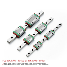 hiwin mgn12 400mm linear guide rail with mgn12c slide blocks stainless steel mgn 12mm kossel mini for cnc 3d printer parts 3D Printer MGN7 MGN9 MGN12 L 100 350 400 500 600 800mm miniature linear rail slide 1pcsMGN linear guide MGN carriage cnc parts