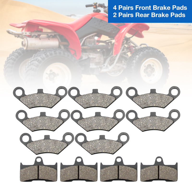 12 Pcs ATV Front & Rear Brake Pad For CFmoto CF500 CF600 X5 X6 X8 U5 ATV UTV Quad Motorcycle Etc Semi-metallic ATV Accessories