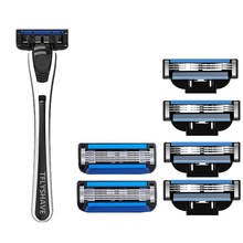 TFLYSHAVE Man Shaver Razor Blade 5 Layer and 3 Layer Razor Cartridge with Trimmer Blade Sweden TOP Blade Men Manual Shaving