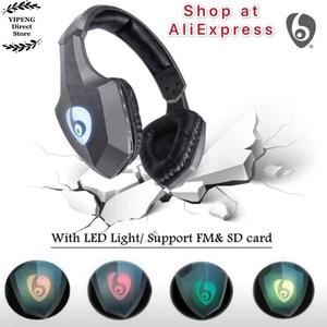 Image 4 - OVLENG S33 Over Ear Bass cuffie Stereo Bluetooth cuffie Wireless supporto Micro SD/TF Card Radio FM microfono e LED