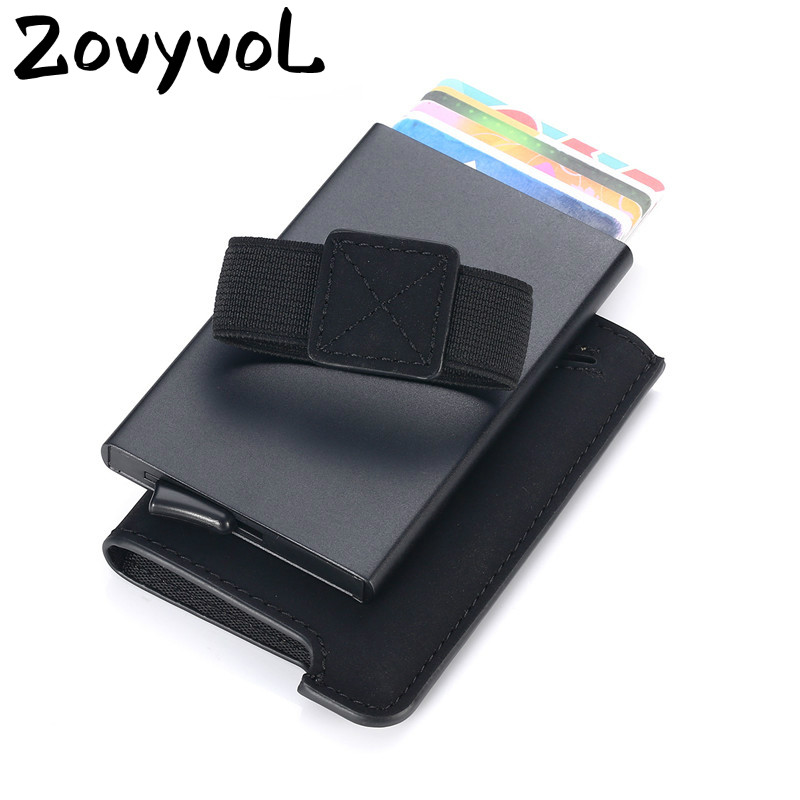 ZOVYVOL New RFID Credit Card Holder Automatic Pouch For Credit Card Men And Women Unisex High Quality ID Case PU Leather Wallets