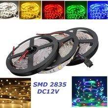 5 m/lote rgb conduziu a luz de tira não impermeável 300 leds smd 2835 12v fita led branco/branco morno/azul/verde/vermelho/rgb conduziu a lâmpada da corda