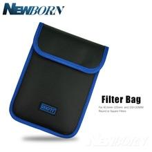 Lens Filter Case Belt Pouch for 40.5mm 105mm Round or Square Filters and Filter Holder 100*150MM Filter Bag